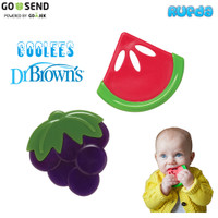 Dr Brown's Coolees Soothing Teether Gigitan Bayi Bentuk Buah Browns