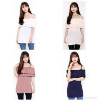 Harga baju gaun dress wanita cewe sabrina blouse wanita atasan cewek 4 | Pembandingharga.com
