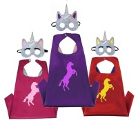 Jubah Kostum Cape Mask Anak Unicorn