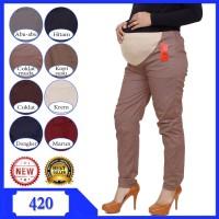 Celana hamil karet bagian perut Celana Kerja Hamil