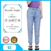 Celana Anak Celana Jogger Jeans anak tanggung usia 8-11tahun bordir