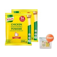 Twin Pack Knorr Chicken Powder 200gr Free Canister