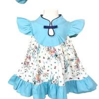 Mosfit Rubby Girl Blue Cheongsam Baju Dress Anak Perempuan