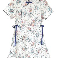 Mosfit Rubby Woman Blue Cheongsam Baju Dress Wanita
