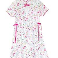 Mosfit Rubby Woman Yellow Cheongsam Baju Dress Wanita
