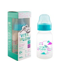 VITAFLOW Botol Susu Multifungsi PP 140ml Dot Size S Lingkaran Awan