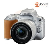 Canon EOS 200D DSLR Camera with 18-55mm Lens Silver