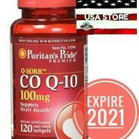 PURITAN COQ10 100 MG 120 SOFTGEL Q SORB CO Q-10 COQ Q10 PURITAN'S