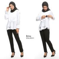 Just Mom Baju menyusui BRINA white BN101