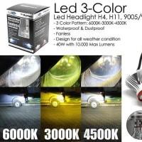 LED Headlight H4 3 warna