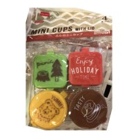 Picnic Side Dish Food Mini Cups with Lid (Kode : SC 30-872)