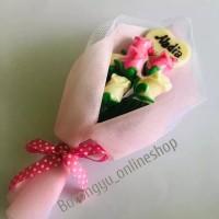 Jual Coklat Valentine Buket Bouquet Bunga Mawar Dengan Nama Kota Bandung Borongyu Tokopedia