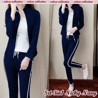 Set 3in1 Nicky/Setelan Babytery Jacket Zipper+Pants/Training Wanita