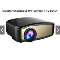 Mini Portable Projector Cheerlux C6 WiFi Anycast TV Tuner 1200 Lumens