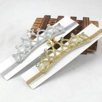 BANDANA BAYI MAHKOTA CROWN 3D GLITTER / BANDO CROWN