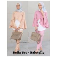 Harga model baru bella set balotelli atasan wanita baju muslim baju gamis   Pembandingharga.com