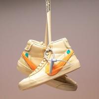 Sepatu Nike Blazer x Off-White Tan Orange Yellow Kuning
