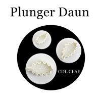 Plunger Cetakan Bentuk Daun - Mold - Fondant - Clay