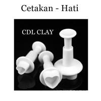 Plunger Cetakan Bentuk Hati - Mold - Fondant - Clay