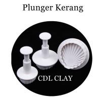 Plunger Cetakan Bentuk Kerang - Mold - Fondant - Clay