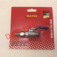 Keran Kompressor / Air Cock / Ball Valve 1/4 inch MATSU