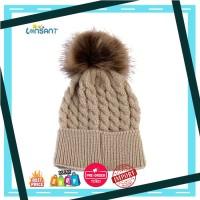 Harga lonsant bayi lucu topi pom musim dingin topi untuk anak gadis | Pembandingharga.com