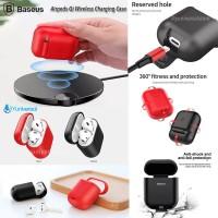 Baseus Airpods Qi Wireless Charger Soft Case TPU Anti Shock ORIGINAL