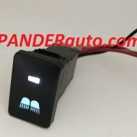 Switch Saklar Xpander dual led putih biru lampu sorot high beam button