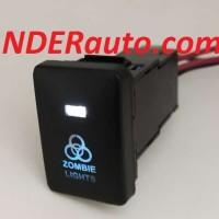 Switch Saklar Xpander dual led putih biru ZOMBIE light push start