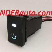 Switch Saklar Xpander dual led putih biru ON push start button