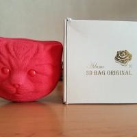 Adamo 3D Bag Original Shoulder Bag Motif Kucing Merah