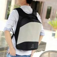 Ransel Backpack Pria Travel Punggung Sekolah USB Charger Murah Import
