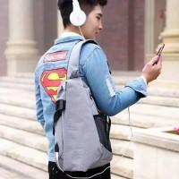 Tas Sling Bag Pria Anti Thief Anti Maling Selempang Impor Ready Stock