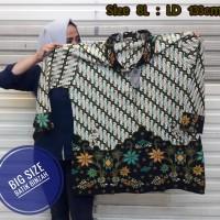 Blus JUMBO kode 0400 / Batik Perempuan Big Size / Batik Binzah