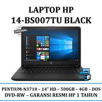 """Laptop HP 14-bs007tu (Black) - Intel Pentium N3710/14""""HD"""