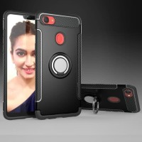 Oppo F7 Pro Plus Carbon iRing Hard Soft Case Cover Casing Standing NEW