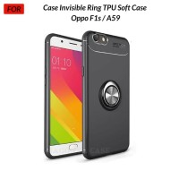 Oppo F1s / A59 Metal iRing Soft Case Cover Casing Silicone Standing