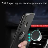 Vivo V9 / V9 Pro Carbon iRing Hard Soft Case Cover Casing Standing NEW