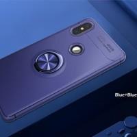 Xiaomi Mi A2 6X MiA2 Metal iRing Soft Case Cover Casing Silicon Stand