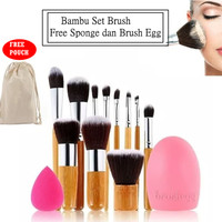 JBS New York Set Kuas Makeup ( paket bambu brush egg telur )
