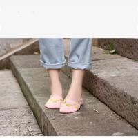 (Kaos Kaki) Kaos Kaki Korea Kaos Kaki Lucu Semangka D1218 - Merah Muda