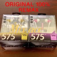Headset Remax RM-575 Earphone RM-575 Pro Earphone Remax Original 100%