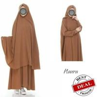 gamis hijab cadar syari semi umbrella bahan wolfis