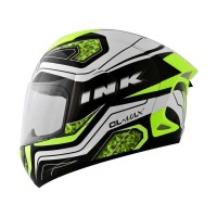 INK-CL MAX #05 Helm Full Face - Black White Yellow Fluo