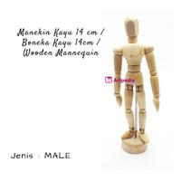 Manekin Kayu 14cm / Boneka Kayu 14cm / Wooden Mannequin /Manikin 14cm