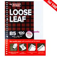 BiG BOSS Loose Leaf B5 (Pak Isi 100 Lembar) TIDAK BERGARIS (POLOS)