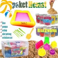 Pasir Kinetik Sand Mainan Anak Paket Hemat Ongkir