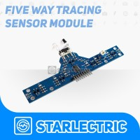 Sensor Garis 5 Channel Line Follower Avoider Sensor Halangan BFD-1000