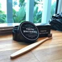 Pemutih Gigi Charcoal Powder Aktif Teeth Whitening ( FREE SIKAT GIGI)
