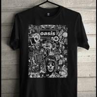 Jual Liam Gallagher  Kaos Band  Oasis Konser Musik Rock Metal Baju Distro Murah
